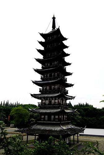 上海松江方塔-水乡古镇照片-方塔公园
